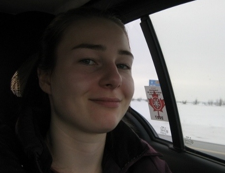 Emily driving to New Brunswick